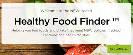 How do I register for the Healthy Food Finder